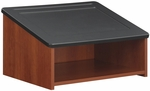 24'' W x 20'' D x 13.5'' H Tabletop Lectern - Cherry and Black [8916CY-FS-SAF]
