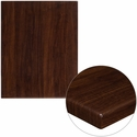 24'' x 30'' High-Gloss Walnut Resin Table Top with 2'' Thick Edge