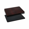 24'' x 30'' Rectangular Table Top with Reversible Black or Mahogany Laminate Top