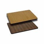 24'' x 30'' Rectangular Table Top with Reversible Natural or Walnut Laminate Top [BFDH-2430NATWALREC-TDR]