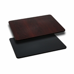24'' x 42'' Rectangular Table Top with Reversible Black or Mahogany Laminate Top [BFDH-2442BKMAHREC-TDR]