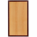 24'' x 42'' Rectangular Two-Tone Resin Cherry Table Top with Mahogany Edge