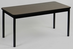 High Pressure Laminate Library Table with Walnut Top - 24''D X 48''W [LR2448-01-CRL]