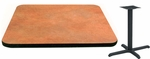24'' x 48'' Laminate Table Top with Vinyl T-Mold Edge and Base - Bar Height [ATS2448-T2430-BAR-3M-SAT]