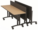 24'' x 60'' Rectangle Multi-App Mobile Folding Seminar Table [TUC22WPHXX02BX-SICO]