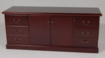 24 x 72 Wood Veneer Storage Credenza in Mahogany Finish [962DMH-FS-FDG]