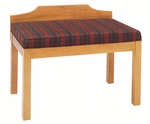 2449 Bench w/ Upholstered Seat & Wood Wall Protector - Grade 2 [2449-GRADE2-ACF]