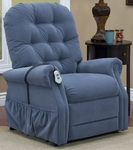 Three Way Reclining 44'' Tall Power Lift Chair with Matching Arm and Headrest Covers - Aaron Williamsburg Blue Fabric [2553T-AAW-FS-MEDL]