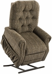 Three Way Reclining 44'' Tall Power Lift Chair with Matching Arm and Headrest Covers - Bromley Cobblestone Fabric [2553T-BC-FS-MEDL]