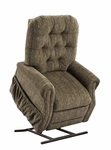 Three way Reclining Power Lift Chair with Matching Arm and Headrest Covers - Bromley Cobblestone Fabric [2553-BC-FS-MEDL]