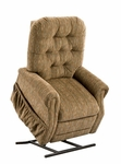 Three way Reclining Power Lift Chair with Matching Arm and Headrest Covers - Bromley Havana Fabric [2553-BH-FS-MEDL]