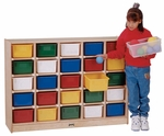 25 Tray Mobile Cubbie Storage Unit [0425JC-JON]
