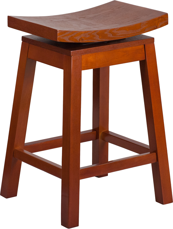 26 High Saddle Seat Light Cherry Wood Counter Height  : 26 high saddle seat light cherry wood counter height stool with auto swivel seat return ta saddle lc 2 gg 4 from www.bizchair.com size 581 x 769 jpeg 199kB
