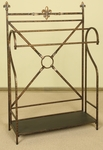 Double Pole Oil Rubbed Metal 29.25''H Quilt Rack with Storage Shelf - Bronze [1219-FS-PAS]