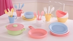 Kids Make-Believe 27 Piece Plastic Kitchen Cookware Play Set - Pastel [63027-FS-KK]