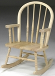 Windsor Children's Parawood Spindle Back 29''H Rocker - Unfinished [1CC-2140-FS-WHT]