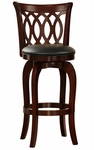 29'' H Motif Design Swivel Barstool With Vinyl Cushion [1133-29S-FS-HOM]