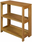 Flip Flop 28''H High Folding Wooden Bookcase - Oak [HBCF2921MO-FS-REG]