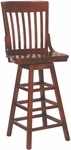 2997 Bar Stool w/ Slat Back & Wood Saddle Seat [2997-ACF]