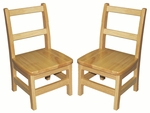 14''H Assembled 3 Rung Hardwood Ladderback Chair with Mortise and Tenon Construction [ELR-15320-ECR]