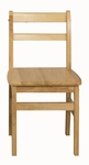 16''H Assembled 3 Rung Hardwood Ladderback Chair with Mortise and Tenon Construction [ELR-15322-ECR]