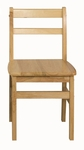 18''H Assembled 3 Rung Hardwood Ladderback Chair with Mortise and Tenon Construction [ELR-15324-ECR]