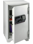 Large Digital Keypad and Key Commercial Safe with 3.0 CU Ft. Capacity - Gray [S6770-FS-SEN]