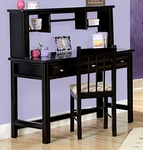 Rustic Style 48''W x 20''D Solid Pine 3 Drawer Student Desk with Hutch - Black Cherry [3534540-4541-FS-CHEL]