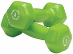 3 lb Pair Vinyl Dumbbells-Green [BSTVD3PR-FS-BODY]