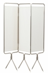 3 Panel Aluminum Folding Screen With Standard White Vinyl [3730-FS-WIN]