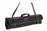 3 Piece BBQ Tote - Black- Kansas State University Digital Print [749-03-175-254-0-FS-PNT]