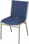 3'' Seat Armless Upholstered Stacking Chair [430-IFK]