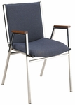3'' Seat Upholstered Stacking Chair With Arms [431-IFK]