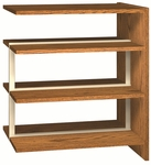 3-Shelf Double Sided Bookcase Adder [LS42DA-IRO]