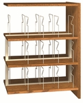 3-Shelf Double Sided Picture Book Bookcase Adder [PBS48DA-IRO]