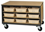 3-Shelf Tote Tray Mobile Storage [2070-O-IRO]