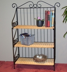 Wicker and Metal 3 Tier Bookcase [143014-FS-DCON]
