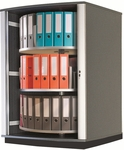 Moll 3 - Tier 2 LockFile Rotating Carousel Storage Cabinet - Gray [LF3-FS-EOS]