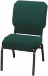 1030 Series Stacking Steel Frame Armless Pew Chair with 3'' Upholstered Waterfall Seat [HWCR1030-IFK]