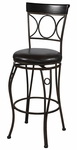 Circles Back 30''H Swivel Bar Stool [02731MTL-01-KD-U-FS-LIN]