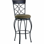 Curves 30''H Back Swivel Bar Stool [02729MTL-01-KD-U-FS-LIN]