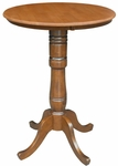 Solid Wood 3 In 1 Convertible 30'' Diameter Pedestal Dining Table - Cinnamon [K58-30RT-6B-2-FS-WHT]