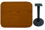 24'' x 30'' Double-Sided Rectangular Indoor Table Top - Standard Height Round Base [CM2430-TB-18R-BFMS]