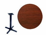 30'' Double-Sided Round Indoor Table Top - Standard Height Cross Base [CM30R-TB-2222-BFMS]