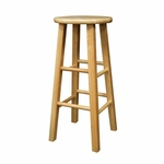 30''H Barstool with Square Legs-Set of 2 [83230-FS-WWT]
