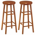 30''H Barstool with Swivel Seat-Set of 2 [75230-FS-WWT]