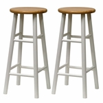 30''H Beveled Seat Bar Stool-Set of 2 [53780-FS-WWT]