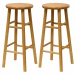 30''H Beveled Seat Bar Stool-Set of 2 [81780-FS-WWT]