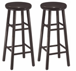 30''H Swivel Seat Bar Stool-Set of 2 [92790-FS-WWT]