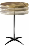 Round Adjustable Height Cocktail Table with Swirl Top [SA30RP3042KD-SAL]